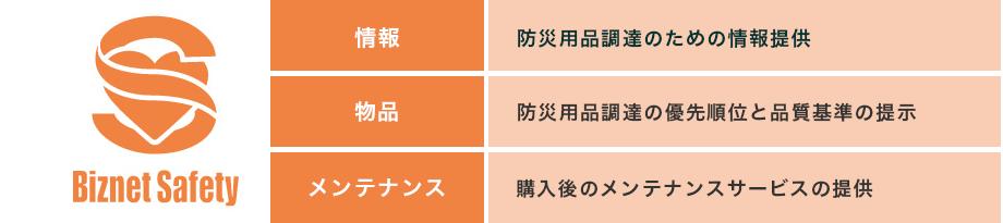 【ビズネットセーフティの3本柱】