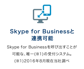 Skype for Businessと連携可能