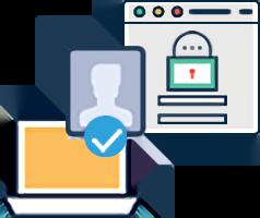セキュリティ面も安心「権限・ログ管理」機能