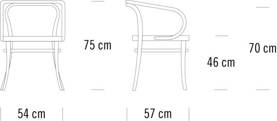 thonet 209寸法図