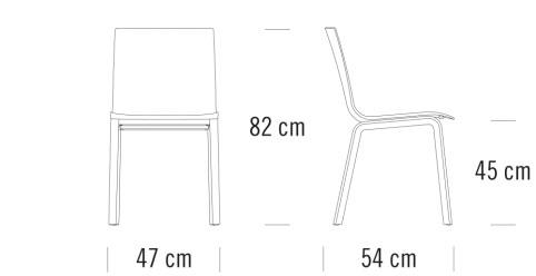 thonet S160 F寸法図