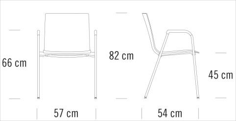 thonet S260寸法図