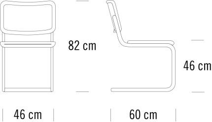 thonet S32V寸法図