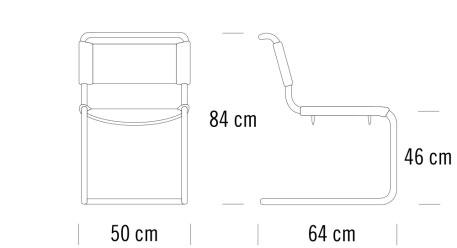 thonet S33寸法図