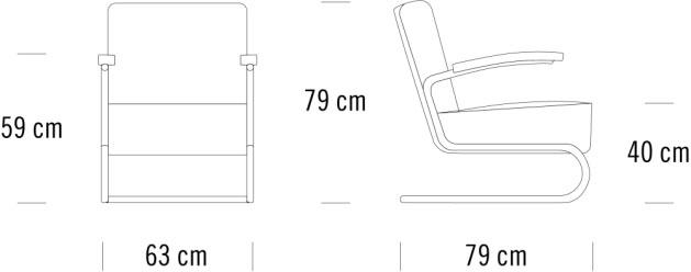 thonet S411寸法図