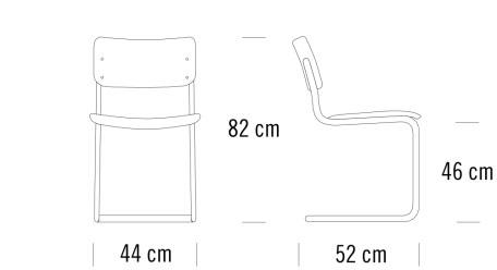 thonet S43寸法図