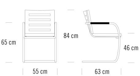 thonet S60寸法図