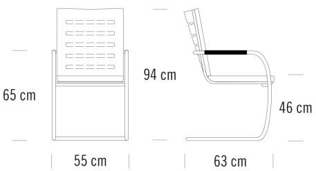 thonet S61寸法図