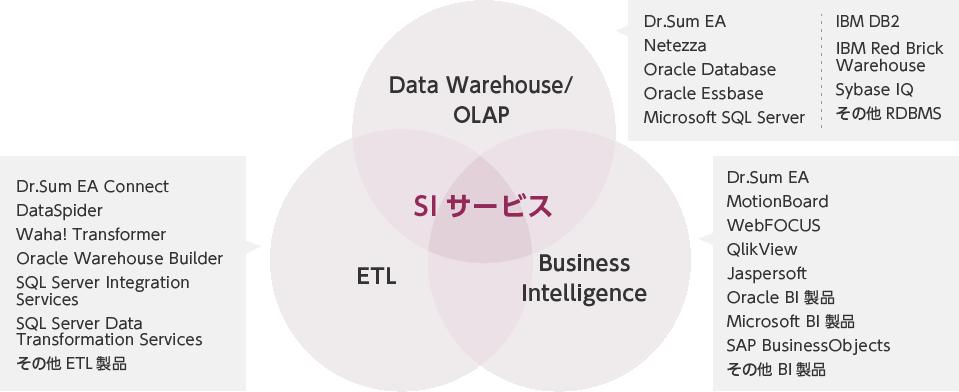 ビジネスインテリジェンスインテグレート(分析基盤)の例